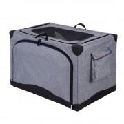 Pet Home колибка за транспортиране - размер M: Д 76 x Ш 50,5 x В 48 cм - кафяво-бежово