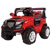 Masinuta electrica pentru copii, Jeep electric cu telecomanda Police, rosu