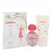 Cabotine Rose by Parfums Gres Gift Set -- 3.4 oz Eau De Toilette Spray + 6.7 oz Body Lotion