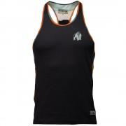 Gorilla Wear Sacramento Camo Mesh Tank Top - Black/Neon Orange - S
