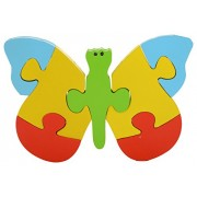 Skillofun Wooden Take Apart Puzzle Butterfly, Multi Color