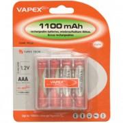 VAPEX 1100mAh [4db] AAA akkumlátor (tölthető elem tartóval)