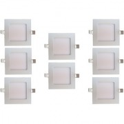 Bene LED 12w Square Slim Panel Ceiling Light Color of LED Warm White (Yellow) (Pack of 8 Pcs)
