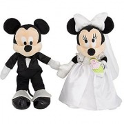 Disney Mickey & Minnie Mouse Plush Wedding Set 9 Bride & Groom