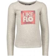 Like Flo Meisjes t-shirts & polos Like Flo Flo girls jersey ls t-shirt divers grijs 116
