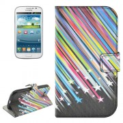 Shooting Star Pattern Flip Leather Case with Holder & Card Slots for Samsung Galaxy Grand Duos / i9082 Neo Plus / i9060