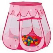 Cort de joaca pentru copii 100 bile colorate incluse