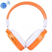 SH-S1 Folding Stereo HiFi Wireless Sports Headphone Headset with LCD Screen to Display Track Information & SD / TF Card Slot & LED Indicator Light & FM Function for Smart Phones & iPad & Laptop & Notebook & MP3 or Other Bluetooth Audio Devices(Orange)