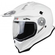 Just1 J14 Adventure Solid Motocross Helmet White M