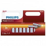 Philips PowerAlkaline LR6-P12W/10 AA ceruza elem LR6 12db/csomag