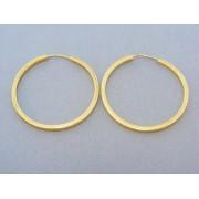 Zlaté náušnice dámske hranaté kruhy DA439Z