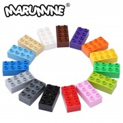 MARUMINE Big Bricks 2x4 Duplo Block 30PCS/Lot Classic Set Education Technic Toys Gift For Children DIY Building Brick Set