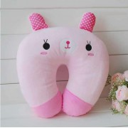 Pink Bunny U Shape Feeding & Nursing Baby Neck Pillow