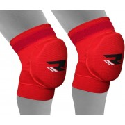 RDX Sports K1 Kniebeschermers vechtsport - met Gel kussen - schok absorptie - maat XL - Rood