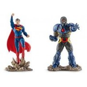Set 2 Figurine Schleich Superman Vs Darkseid Scenery Pack
