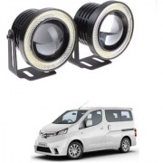 Auto Addict 3.5 High Power Led Projector Fog Light Cob with White Angel Eye Ring 15W Set of 2 For Nissan Evalia