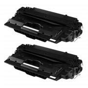 HP 2x HP 14X (CF214X) toner zwart hoge capaciteit (huismerk toners)