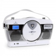 Auna RCD-70 Radio retro FM USB CD pilas blanco (MG-RCD-70-W)