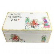 Set All I want for Christmas cutie antichizata lumanari parfumate decoratiuni de Craciun din lemn