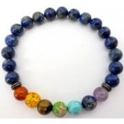 Bratara 7 chakra lapiz lazuli - Intuitie si intelepciune interioara
