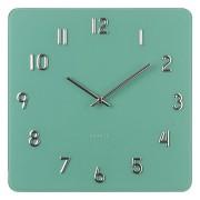 Skleněné designové hranaté čitelné hodiny JVD H85.3
