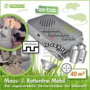 Aparat anti rozatoare cu ultrasunete auto Marder Frei 70624 - Portabil