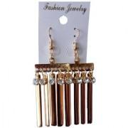 Fashionable Golden Stone Earrings Set Earring for Girls Women Earrings