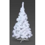 Brad artificial alb cu cetina fina 120cm
