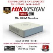 HIKVISION 1 MP FULL HD DS-7108HGHI-F1 Turbo HD 720P 8Ch. HD DVR Standalone 8Ch.