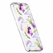 Husa Silicon Transparent Slim Unicorn Pattern Apple iPhone 5 5S SE
