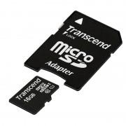 Micro SD Card, 16GB, Transcend MICRO, UHS-I Premium, 1xAdapter, Class10 (TS16GUSDU1)