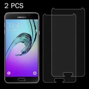 2 stuks voor Galaxy A7 (2017) / A720 0 26 mm 9H oppervlaktehardheid 2.5D explosieveilige getemperd glas scherm Film