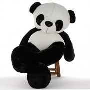 BTC GIANT PANDA Life Size Stuffed Teddy Bear/Stuffed Spongy Hugable Cute Teddy Bear Cuddles Soft Toy For Kids Birthday / Return Gifts Girls Lovable Special Gift High Quality (3 Foot 91Cm), BLACK & WHITE)