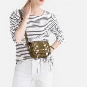 LA REDOUTE COLLECTIONS Tasche aus Leder, Umschlag mit Fransen in metallisierter Optik