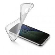 Калъф за Motorola Moto G5 Plus, страничен протектор с гръб, гума, Cellular Line Soft, прозрачен