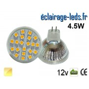 Ampoule LED MR16 21 led smd 5050 blanc chaud 12v ref mr16-04