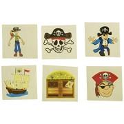 "RINCO Temporary Pirate Tattoo (144 Piece), 2"""