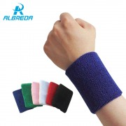 ALBREDA 1Pair*8CM Sport Wristband Gym Support Cotton Elastic Wrist Brace Wrap Fitness Tennis Sports Protection Hand Sweat Bands
