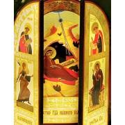 Religious Gifts Belén tríptico de Cristo King David con Salomón y el icono annuciation, 103/20,3cm