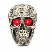 Esqueleto Decoración Horrible Juguete Modelo Ojos Rojo Brillante Para Halloween
