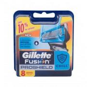Gillette Fusion Proshield Chill 8 ks náhradné hlavice na ľahké a pohodlné oholenie pre mužov