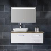 Douche Concurrent Badkamerspiegel Wiesbaden Ambi One 100x60cm Geintegreerde LED Verlichting Verwarming Anti Condens Touch Lichtschakelaar Dimbaar