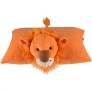 Ultra Folding Pillow Lion 17x13 Inches - Orange