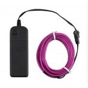 ER 4m Cable Electroluminiscente Cuerda Flexible Del Tubo De Luz De Neón Brillan Controlador Parte De Coche Bar Decoración -Violeta