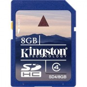 Kingston 8 GB SDHC Class 4 4 MB/S Memory Card