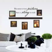 Sticker perete A story to tell photo frame 30x90 cm