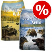 Pachet mixt 2 sortimente Taste of the Wild! - 2 x 13 kg - High Prairie Puppy & Pacific Stream Puppy