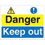 Unbranded Warning Sign Keep Out Fluted Board 30 x 40 cm