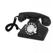 GPO Retro 200 Classic Rotary Dial Telephone - Black