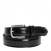 Made In Italy Cintura Uomo in Pelle di Vitello Spazzolato Nera 3,5cm